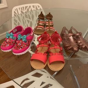 4 pairs of size 12 barely worn girls shoes